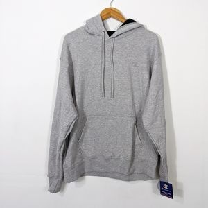 Champion Powerblend Fleece Pullover Hoodie Gray